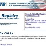 COLAs and Approved Labels
